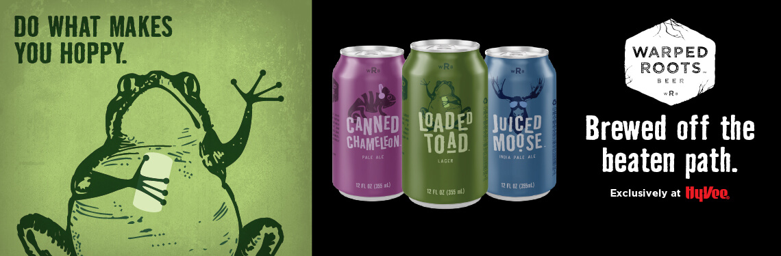 Warped Roots beer cans