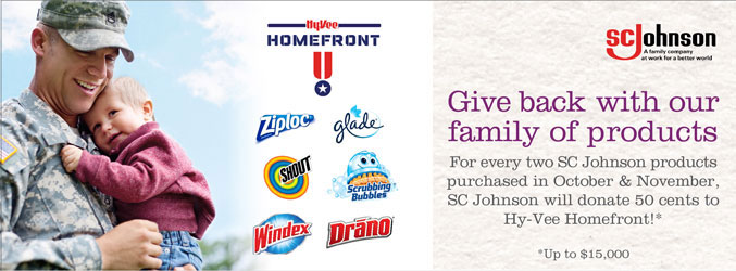 Give back with our family of products - SC Johnson