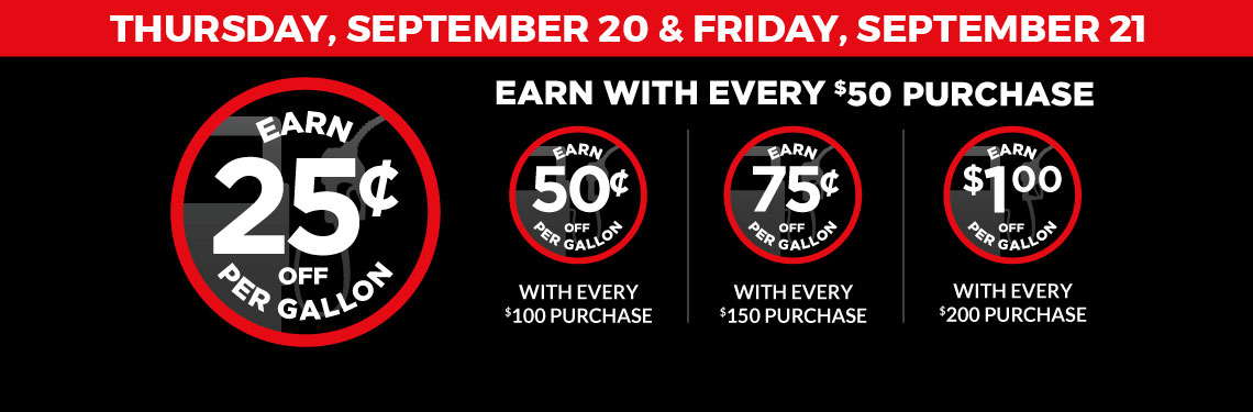 2-Day Fuel Saver Sale