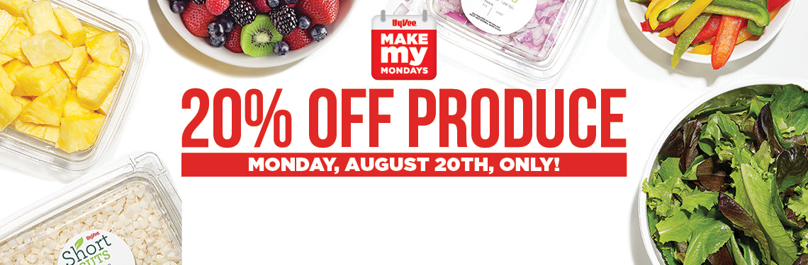 20 percent off produce sack sale