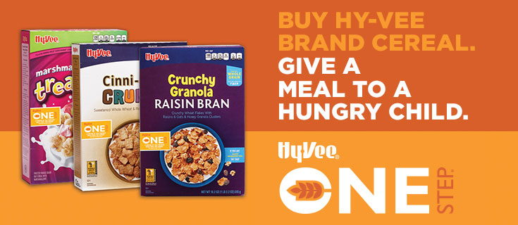 Buy Hy-Vee brand cereal help a hungry child
